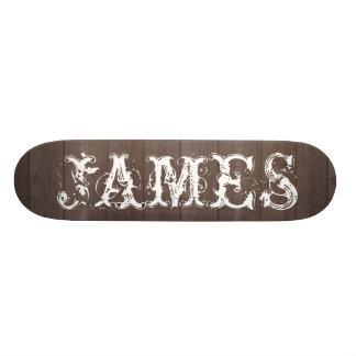 Custom vintage typography wood skateboard deck