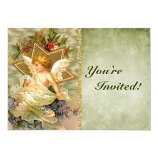 Custom Vintage Victorian Christmas Angel | Holiday Card