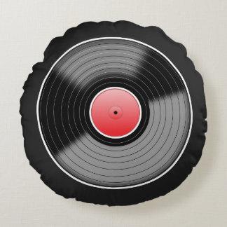 "Custom ""Vinyl Junkie"" Round Throw Pillow"