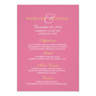 Custom violet  modern wedding menu card