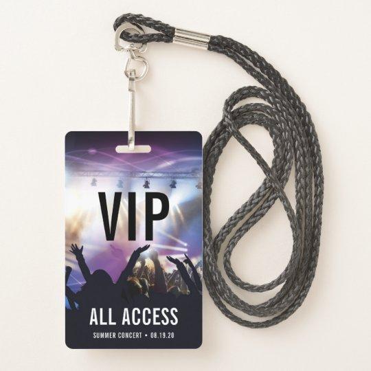 custom vip all access concert badge