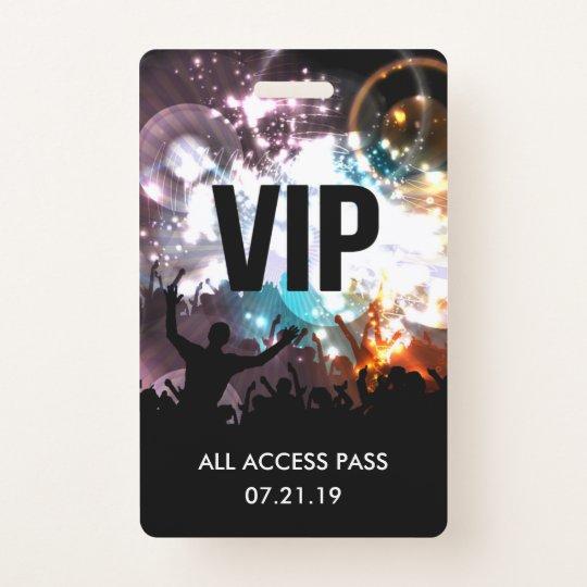 Decorative Wedding Invitation Badge 7: Custom VIP All Access Concert Badge Invitation