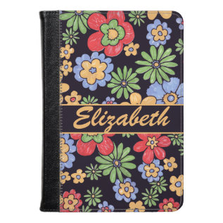 Custom Vivid Colorful Flowers To Personalize Kindle Case at Zazzle
