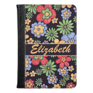 Custom Vivid Colorful Flowers to Personalize Kindle Case
