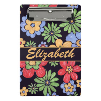 Custom Vivid Colorful Flowers to Personalize Mini Clipboard