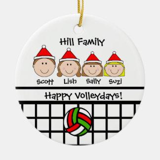 Custom Volleyball Family Holiday Ornament