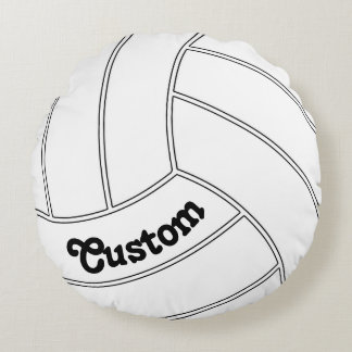 Custom Volleyball Round Decorative Throw Pillow