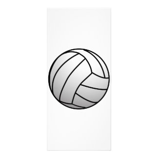 Custom VolleyBall Sports Product Rack Card