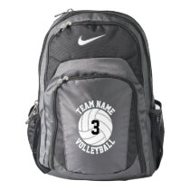 Custom Volleyball Team Name & Player Number Sports Backpack