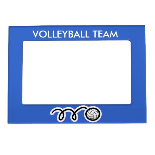 custom volleyball team picture frame magnet zazzle
