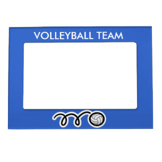 Custom volleyball team picture frame magnet