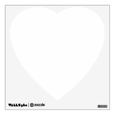 Beach Themed Custom Wall Decal Heart