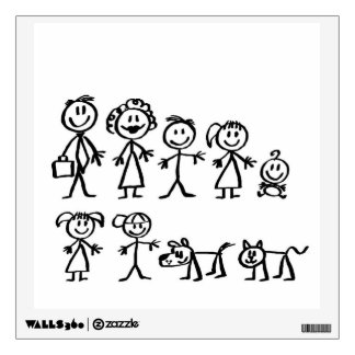 Custom Wall Decal/Stick Figure Family Wall Decal