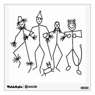 Custom Wall Decal/Stick Figure Family Wall Sticker
