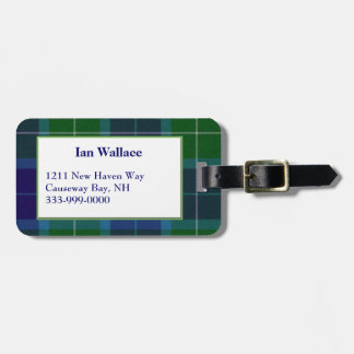 Custom Wallace Tartan Plaid Luggage Tag