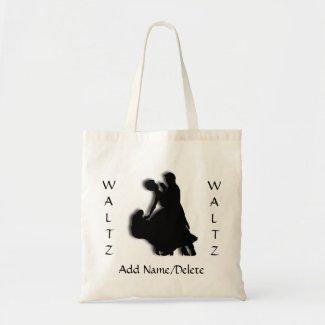 Custom Waltz Dance Silhouette Tote Bag
