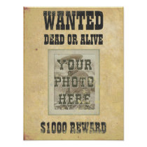 Custom Wanted Poster Print