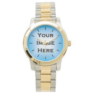 Custom Watch With Black Ticks