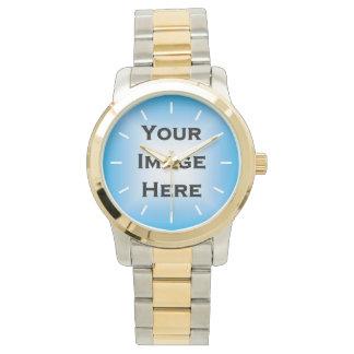 Custom Watch With White Ticks