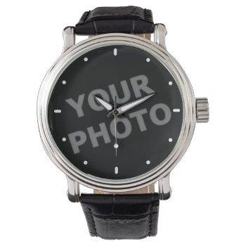 Custom Watch Your Image With Modern Time Markers by DigitalDreambuilder at Zazzle