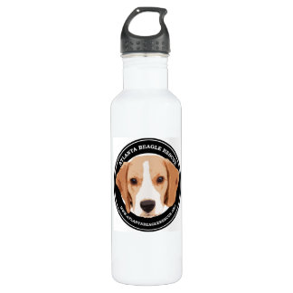Custom Water Bottle (24 oz), White