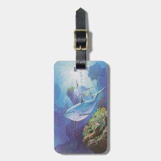 Custom Water Dolphin Luggage Tag