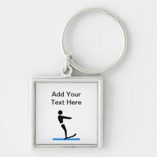 Custom Water Skiing Keychain