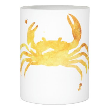 Beach Themed Custom watercolor crab flameless candle