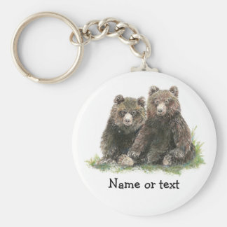 Custom Watercolor Cute Bears Keychain