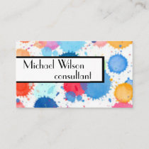 custom watercolor design business cards template