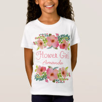Custom watercolor floral T-Shirt