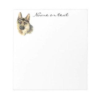 Custom Watercolor German Shepherd Pet Dog Animal Memo Note Pads