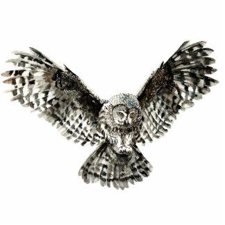 Custom Watercolor Great Grey Owl Bird, Animal Cutout