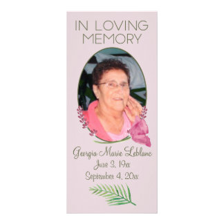 Custom Watercolor Lavender Memorial Keepsakes Rack Card