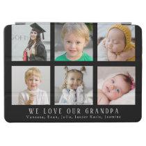 Custom We Love Our Grandpa Black Photo Collage iPad Air Cover