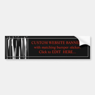 CUSTOM WEBSITE BANNERS MATCHING BUMPER STICKER