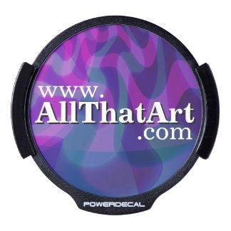 Custom Website URL Back-Lit Car Decal Blue/Purple LED Car Decal