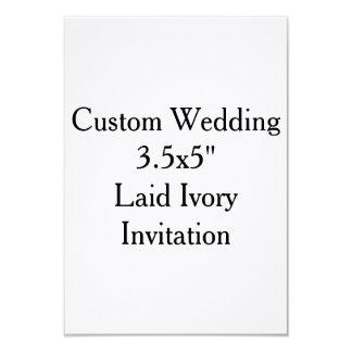 "Custom Wedding 3.5x5""  Laid Ivory Invitation"