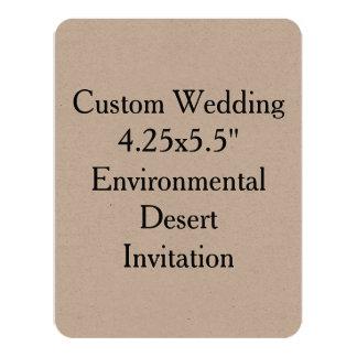 "Custom Wedding 4.25"" x 5.5"" Kraft Invit Card"