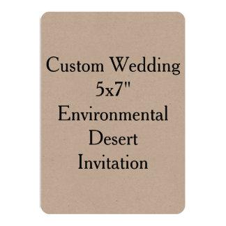 "Custom Wedding 5""x7"" Environmental Kraft Invite"