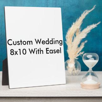 Custom Wedding 8x10 With Easel Plaque