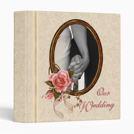 custom wedding album 3 ring binders zazzle