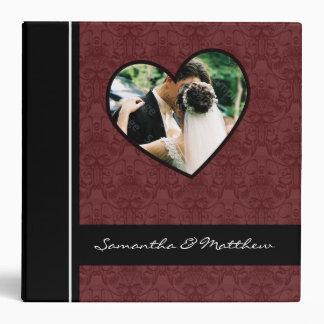 Custom Wedding Album Binder Burgundy