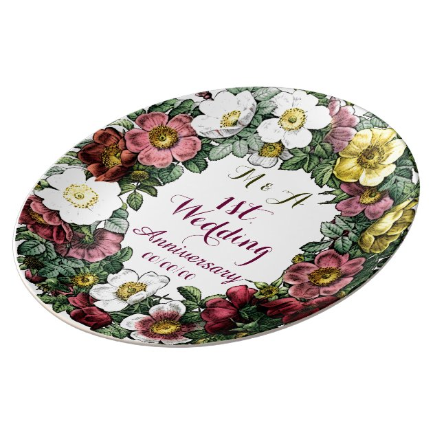 decorative items for wedding anniversary custom wedding anniversary decorative plate zazzle 12063