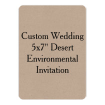 Custom Wedding Bachelor Party Kraft Invitation