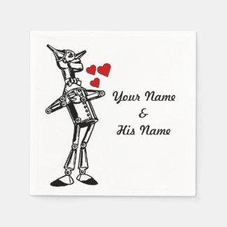 custom Wedding Batchlorette Wizard of Oz Tin Man Napkin