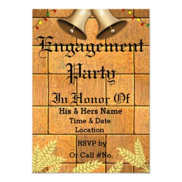 Wedding Themed Custom Wedding Bells Engagement Party Invitation