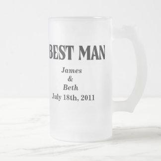Custom Wedding Best Man Beer Mug