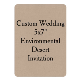 Custom Wedding Bridal Shower Kraft Invitations
