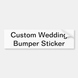 Custom Wedding Bumper Sticker